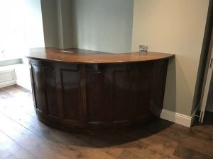 Bespoke Handmade solid wood bar counter