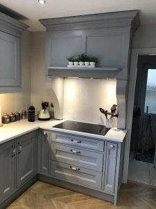 Grey In-Frame Kitchen