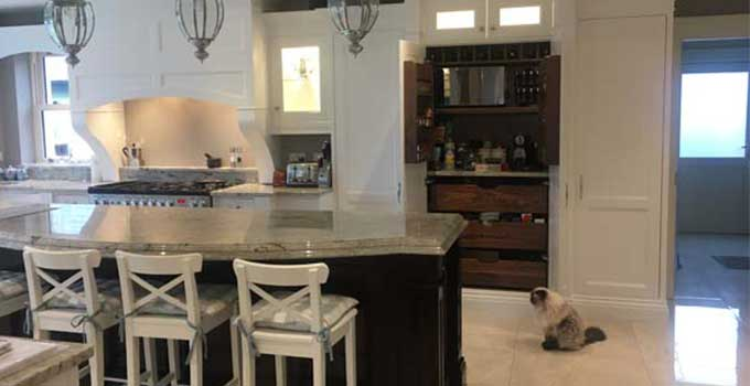 Eddie Connolly Builders -IN-FRAME KITCHEN WITH MAHOGANY ISLAND